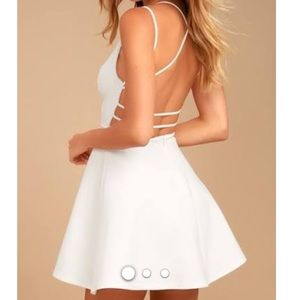 Backless skater dress